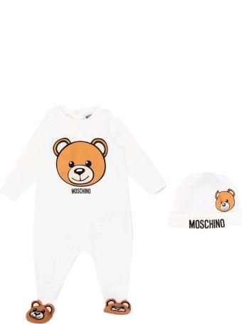 Moschino White Newborn Onesie