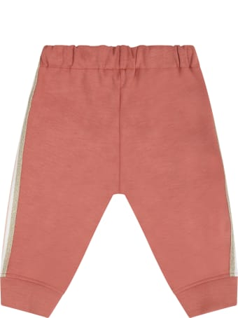 Chloé Brick Sweatpants For Babygirl With Logo