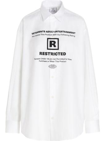 VETEMENTS '18+ Restricted' Shirt