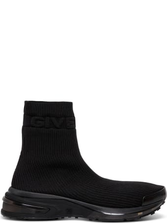 Givenchy Sock Sneakers In Black Ribbed Knit
