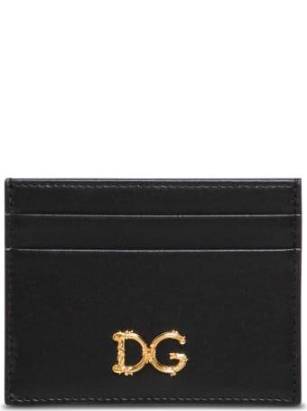 Dolce & Gabbana Card Holder With Dg Barocco Logo