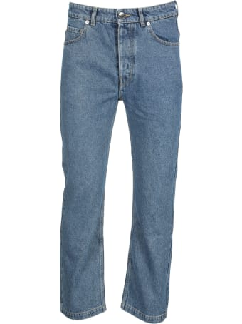 Opening Ceremony Washed Blue Slim-cut Tapered Jeans