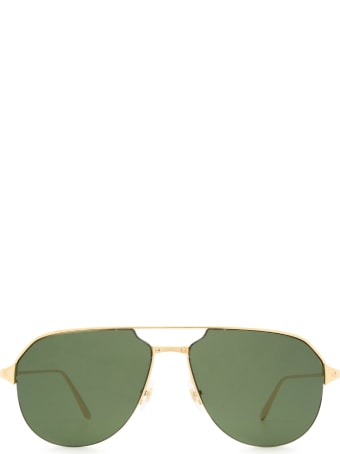 Cartier Eyewear Cartier Ct0229s Gold Sunglasses