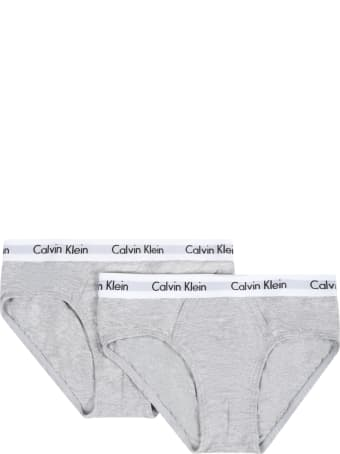 Calvin Klein Grey Set For Boy With Logos