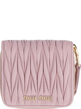 Miu Miu Leather Zip-around Wallet