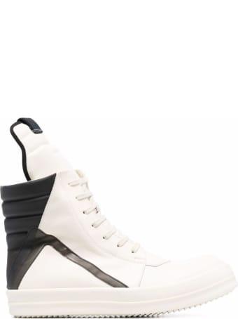 Rick Owens High Top Geobasket Leather Sneakers