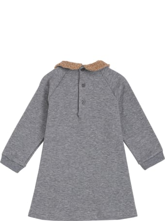 Il Gufo Bamby Grey Cotton Dress