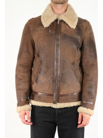 Golden Goose Faux Fur And Leather Jacket