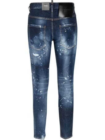 Dsquared2 Paint Splat Print Ripped Jeans