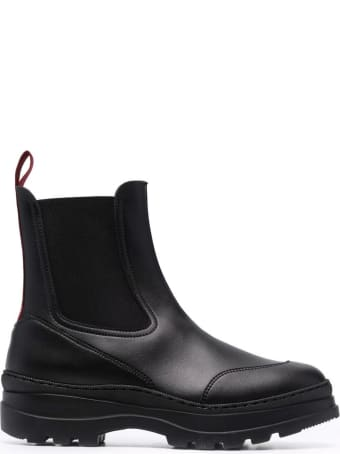Doucal's Black Leather Ankle Boots