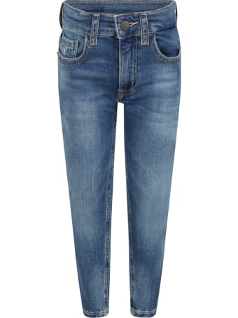 Calvin Klein Light Blue Jeans For Boy With Logo