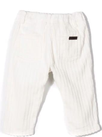 Fay Avorio White Cotton Trousers