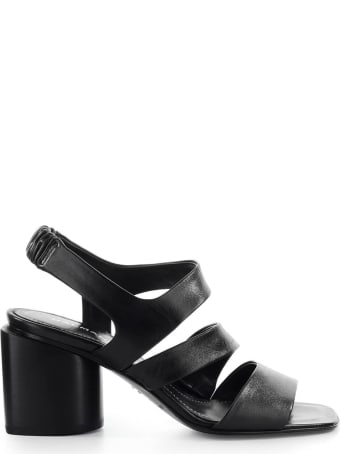 Halmanera Doris Black Heeled Sandal