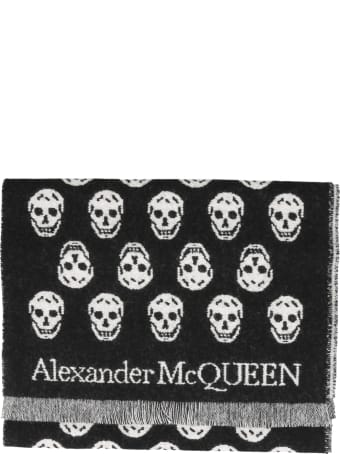 Alexander McQueen Double Face Skull Foulard