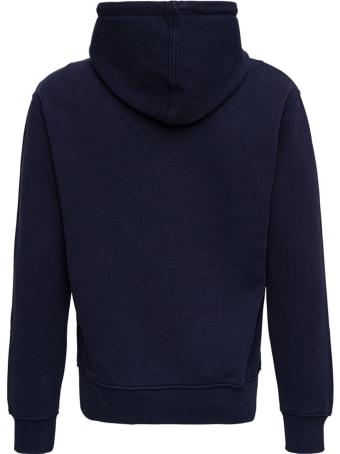 Ami Alexandre Mattiussi Blue Cotton Hoodie With Logo
