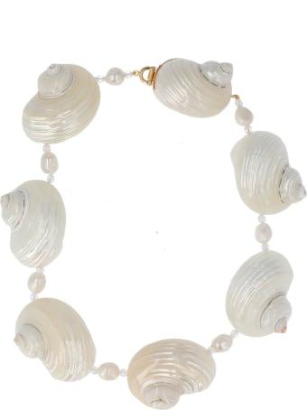 Prada 'shell Pearl' Necklace