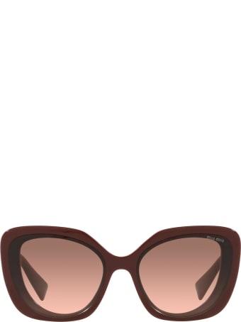 Miu Miu Miu Miu Mu 06xs Pink Bordeaux Sunglasses