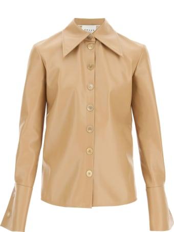 A.W.A.K.E. Mode Faux Leather Shirt