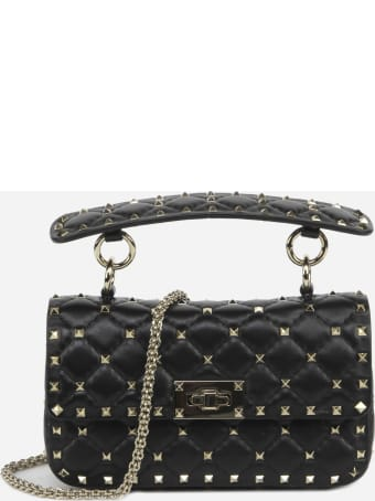 Valentino Garavani Small Rockstud Spike Bag In Quilted Leather