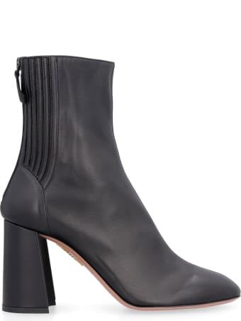 Aquazzura Leather Ankle Boots