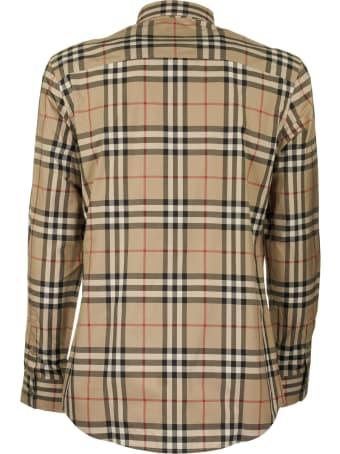 Burberry Caxton - Cotton Poplin Shirt With Tartan Pattern