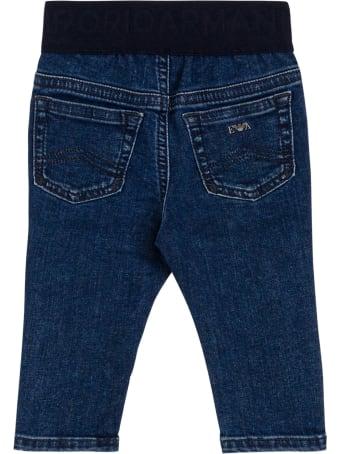 Emporio Armani Stretch Denim Jeans With Elastic Waist