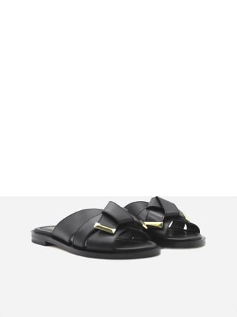MICHAEL Michael Kors Addison Leather Slides Sandals
