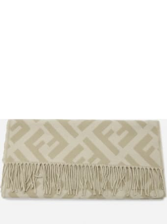 Fendi Cashmere Scarf With All-over Ff Motif
