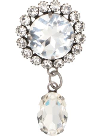 Alessandra Rich 'crystal Round' Pin