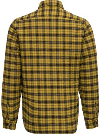 Aspesi Yellow Check Wool And Cotton Shirt