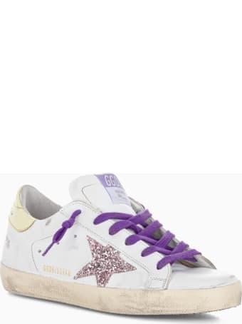 Golden Goose Superstar Sneakers With Glitter Star