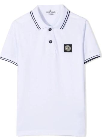 Stone Island White Cotton Polo Shirt
