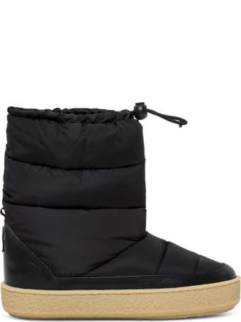 Isabel Marant Zeik Black Nylon Padded Boots