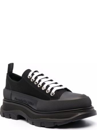 Alexander McQueen Black Traead Slick Cotton Sneakers