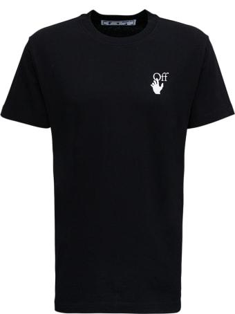 Off-White Black Cotton T-shirt With Arrow Degrade Print