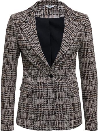 Liu-Jo Single-breasted Jacquard Houndstooth Jacket
