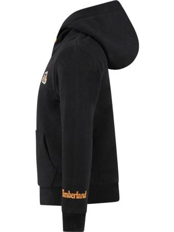 Timberland Black Swatshirt For Boy With Logo