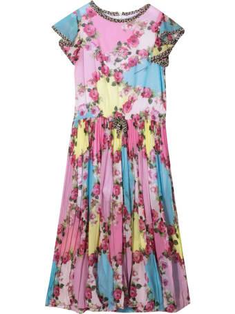 Miss Blumarine Long Dress With Flowers