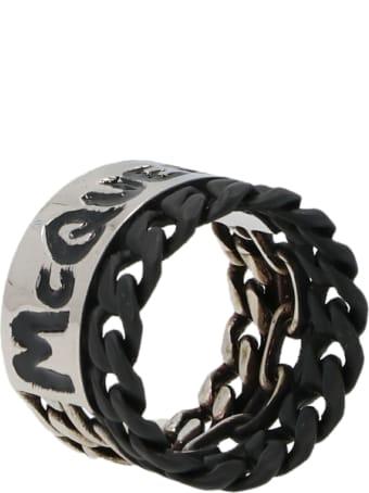 Alexander McQueen 'mcqueen Graffiti Chain' Ring
