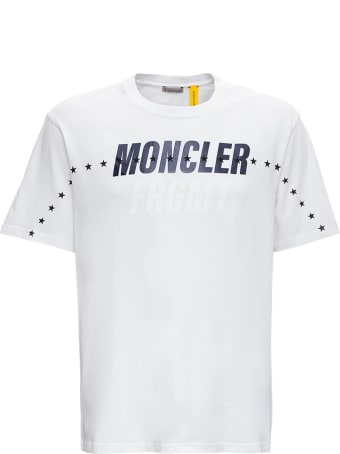 Moncler Genius Oversized Tee In White Jersey By Frgmt