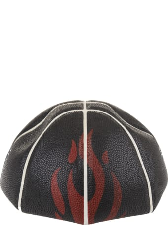 Vision of Super Black Basketball Ball With Red Flame