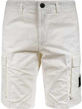 Stone Island Cargo Pocket Detail Shorts