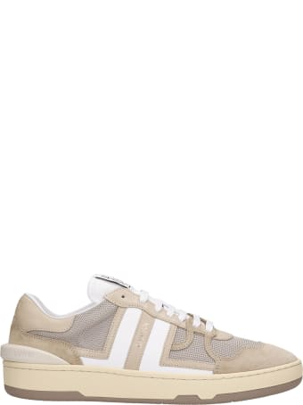 Lanvin Clay Sneakers In Beige Suede And Leather