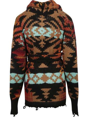 Laneus Belt-waist Cardi-coat