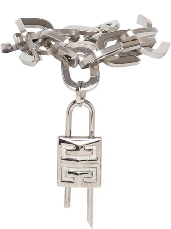 Givenchy G Link Lock Bracelet With Padlock