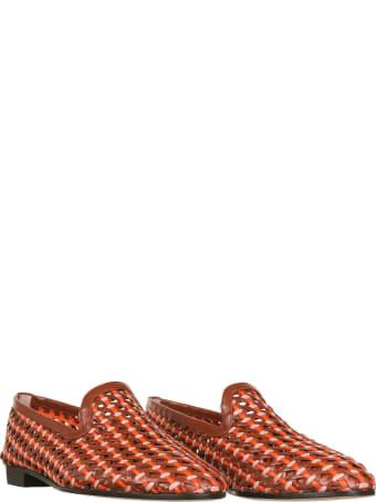 Fratelli Rossetti Slipper In Woven Leather