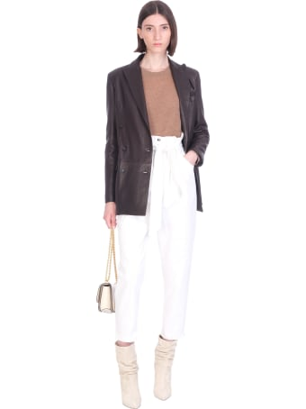 Tagliatore 0205 Josie  Leather Jacket In Brown Leather