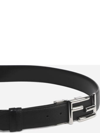 Fendi Fendi Black Leather Belt