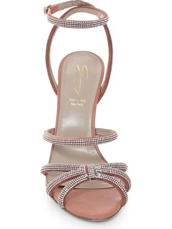Genny Crystals-embellished Leather Sandals