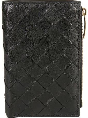 Bottega Veneta Weave Effect Snap-lock Wallet